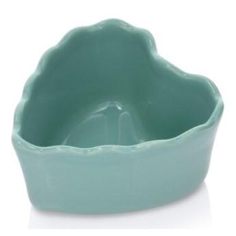 Forma do pieczenia serce DUKA GRESTEL 11 cm zielona ceramika