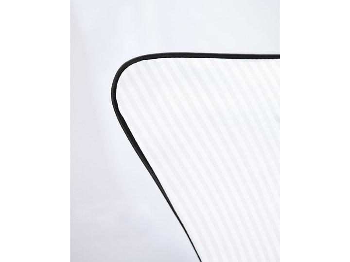 Pościel adamaszkowa SAN ANTONIO – z czarną lamówką - 180 x 200 180x200 cm Satyna Bawełna Kolor Czarny