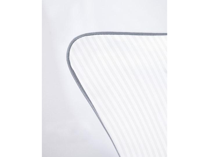 Pościel adamaszkowa SAN ANTONIO – ze srebrną lamówką - 200 x 200 Satyna Bawełna 200x200 cm Kolor Srebrny Pomieszczenie Pościel do sypialni