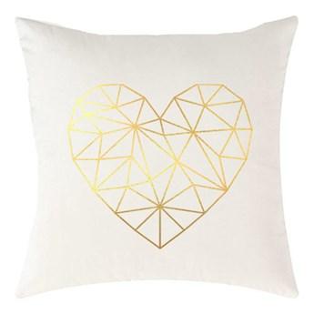 Poduszka VELVET Geometric Heart - Biały