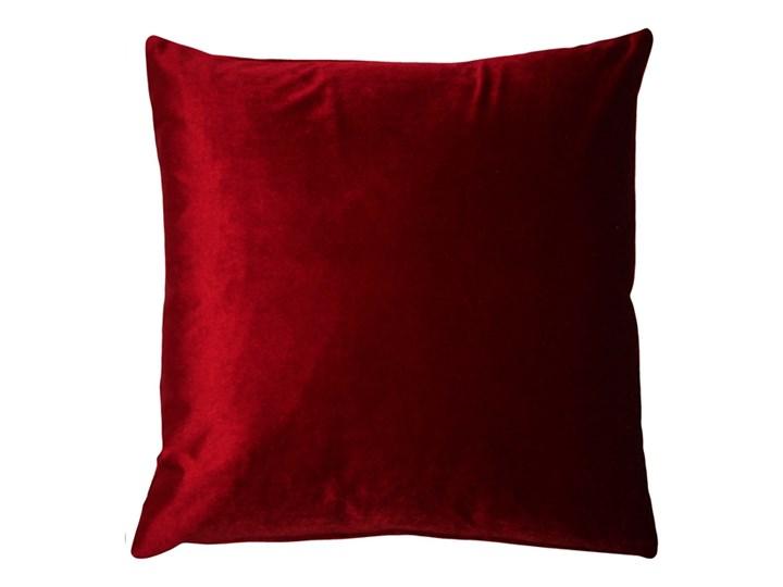 Poduszka VELVET - Bordowy Kategoria Poduszki i poszewki dekoracyjne 45x45 cm Poduszka dekoracyjna Aksamit Poszewka dekoracyjna Welur Kolor Czerwony
