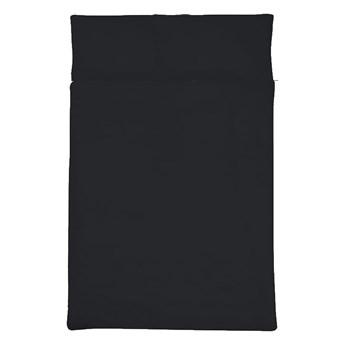Komplet czarnej pościeli satynowej - 160 x 200