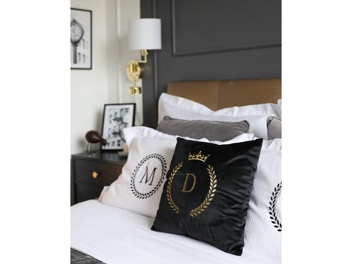 Komplet białej adamaszkowej pościeli personalizowanej ZOE - 200 x 220 Bawełna 200x220 cm Pomieszczenie Pościel do sypialni Kolor Biały