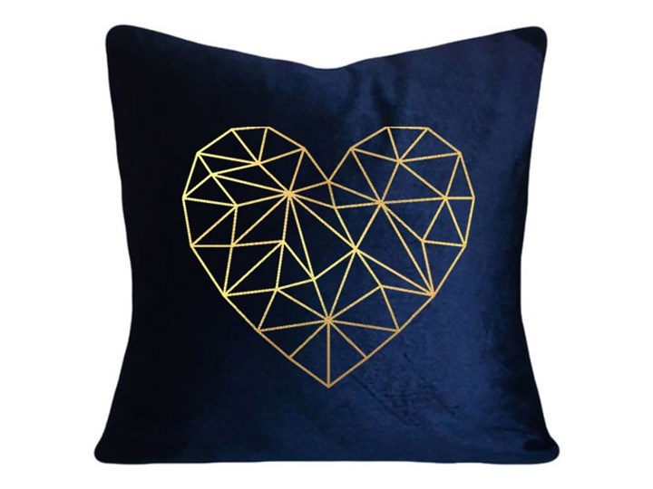 Poduszka VELVET Geometric Heart - Granat