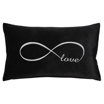 Poduszka prostokąt VELVET Infinity Love - Czarny ze srebrnym