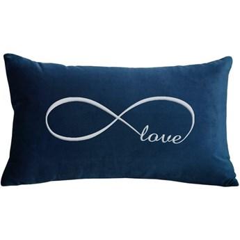 Poduszka prostokąt VELVET Infinity Love - Granat