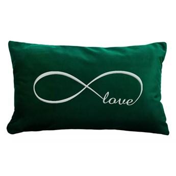 Poduszka prostokąt VELVET Infinity Love - Zieleń