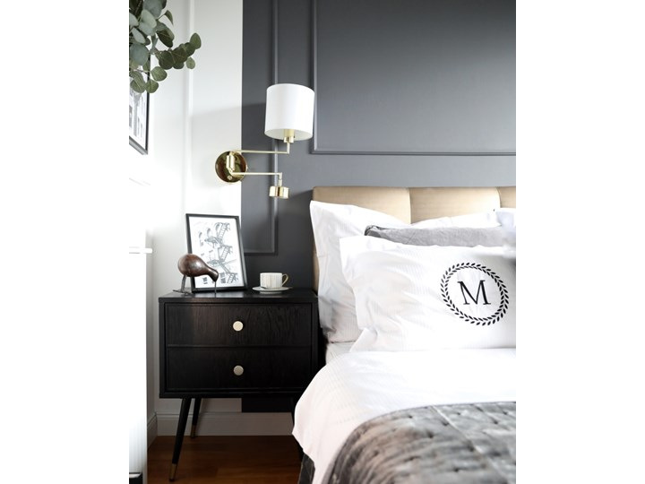 Komplet białej adamaszkowej pościeli personalizowanej ZOE - 180 x 200 Kolor Biały Bawełna 180x200 cm Pomieszczenie Pościel do sypialni