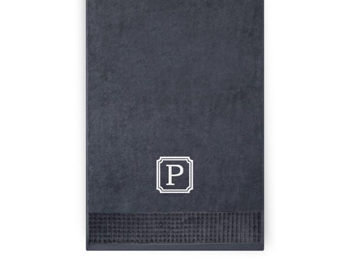 Personalizowany ręcznik kąpielowy 50 x 100 – grafit 50x100 cm Bawełna Kategoria Ręczniki Kolor Szary