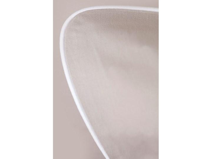 Pościel satynowa SAN ANTONIO - latte macchiato beż z białą lamówką - 140 x 200 Bawełna 140x200 cm Satyna Komplet pościeli Kolor Beżowy