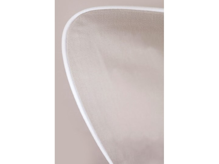 Pościel satynowa SAN ANTONIO - latte macchiato beż z białą lamówką - 160 x 200 Kolor Beżowy 160x200 cm Satyna Komplet pościeli Bawełna Kolor Biały