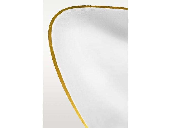 Pościel satynowa SAN ANTONIO - biała ze złotą lamówką - 200 x 200 Kolor Złoty Bawełna 200x200 cm Komplet pościeli Satyna Kolor Biały