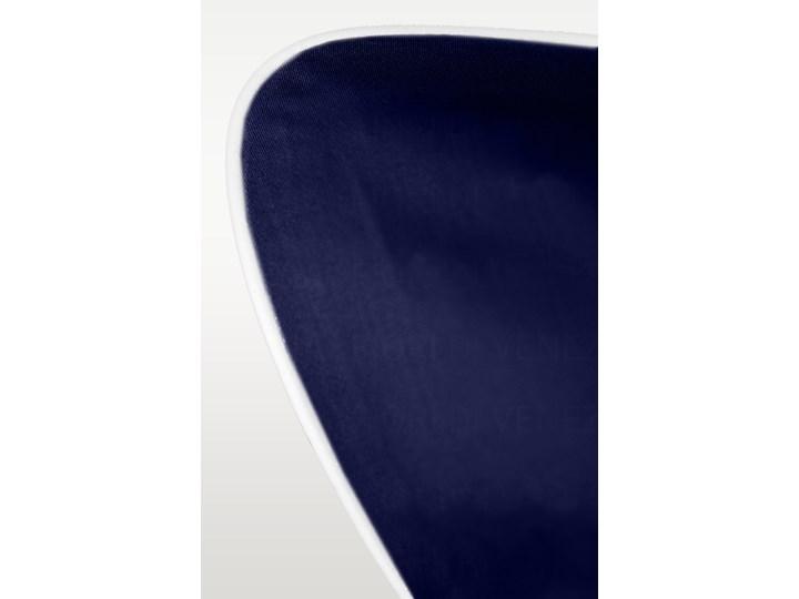 Pościel satynowa SAN ANTONIO - navy blue z białą lamówką - 180 x 200 Satyna 180x200 cm Bawełna Kolor Biały Komplet pościeli Kolor Granatowy