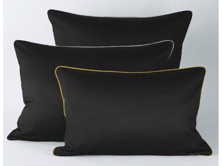 Pościel satynowa SAN ANTONIO - czarna z lamówką - 160 x 200 160x200 cm Satyna Komplet pościeli Kolor Czarny Bawełna Pomieszczenie Pościel do sypialni