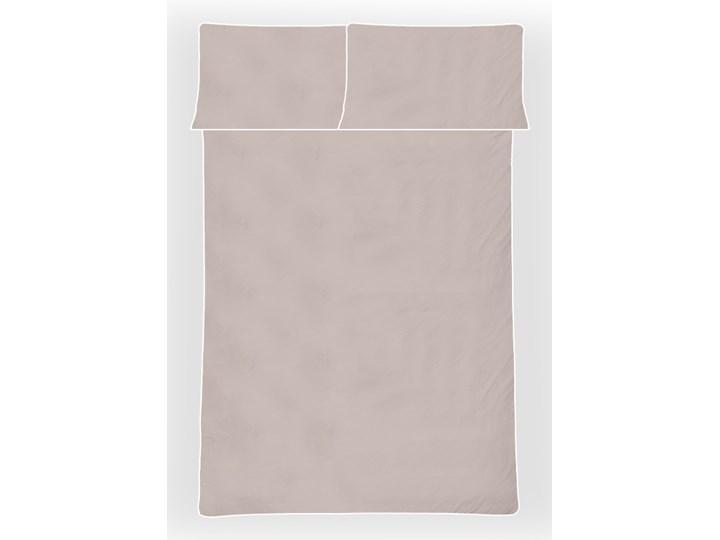 Pościel satynowa SAN ANTONIO - latte macchiato beż z białą lamówką - 180 x 200 Komplet pościeli Kolor Beżowy Bawełna 180x200 cm Satyna Pomieszczenie Pościel do sypialni