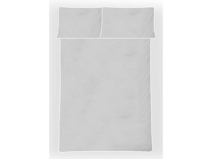 Pościel satynowa SAN ANTONIO - szary jasny z białą lamówką - 160 x 200 Komplet pościeli Satyna 160x200 cm Bawełna Kolor Biały