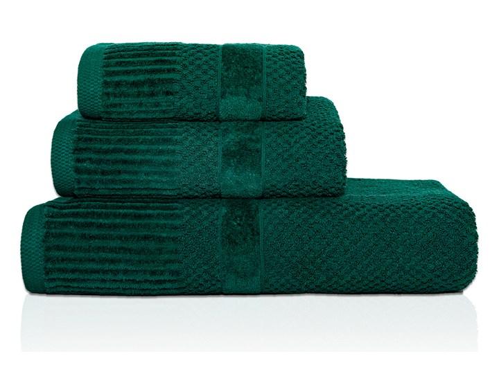 Ręcznik personalizowany IVO - butelkowa zieleń - 70 x 140