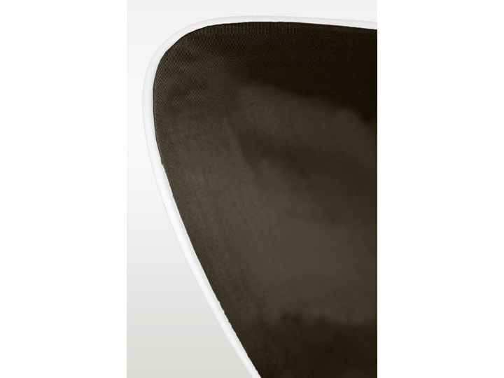 Pościel satynowa SAN ANTONIO - ciemny brąz z białą lamówką - 200 x 200 200x200 cm Komplet pościeli Bawełna Satyna Kolor Biały