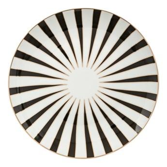 Talerzyk deserowy MARVEILLEUX, Ø 19 cm, biało-czarny