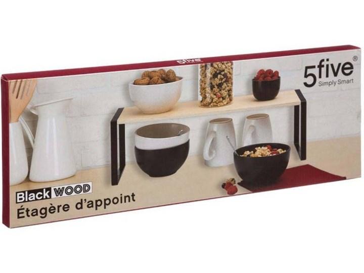 Półka kuchenna na blat, 50 x 18 x 15 cm Metal Kategoria Półki kuchenne Drewno Kolor Beżowy