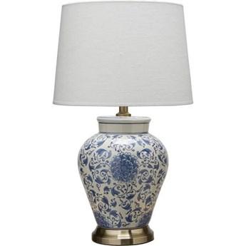 Ceramiczna lampa stołowa Feng 58cm niebieski kwiat