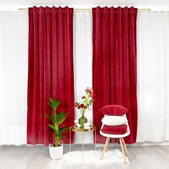 Welurowa zasłona Velvet w kolorze czerwonego wina 140x250 cm