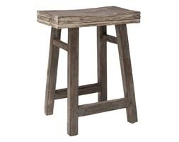 Drewniany stołek z drzewa tekowego // HK LIVING