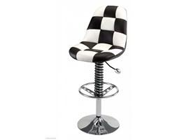 Siedzenie barowe ( hoker ) PitStop - czarno-białe