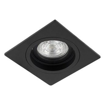 Punktowa oprawa sufitowa wpuszczana TULID SQ Black IP20 kwadratowa czarna EDO777326 EDO