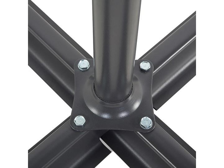 Parasol ogrodowy beżowy na wysięgniku Ø300 cm podwieszany ciemnoszara stalowa rama Kategoria Parasole ogrodowe Parasole Położenie nogi Boczne