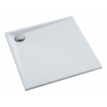 Brodzik kwadratowy Stone, 80 cm, biały mat, STONE80/KBM