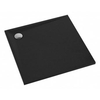 Brodzik kwadratowy Stone, 80 cm, czarny mat, STONE80/KBL