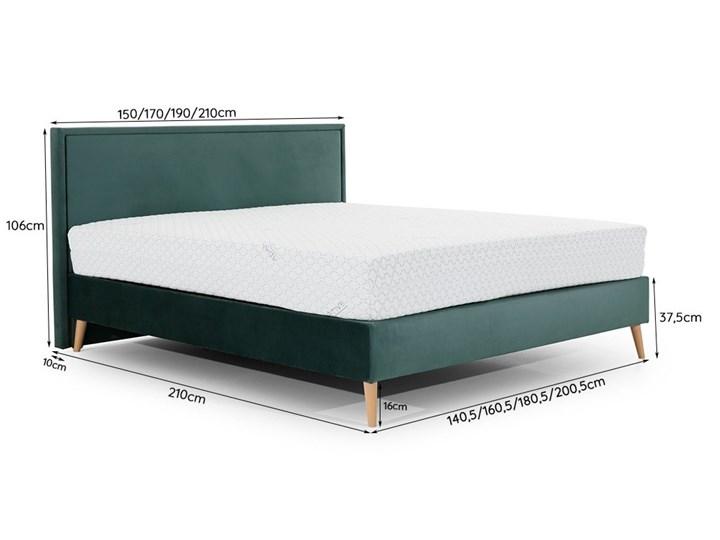 Łóżko LARY kontynentalne, tapicerowane  160x200 cm Łóżko tapicerowane Łóżko kontynentalne Rozmiar materaca 200x200 cm