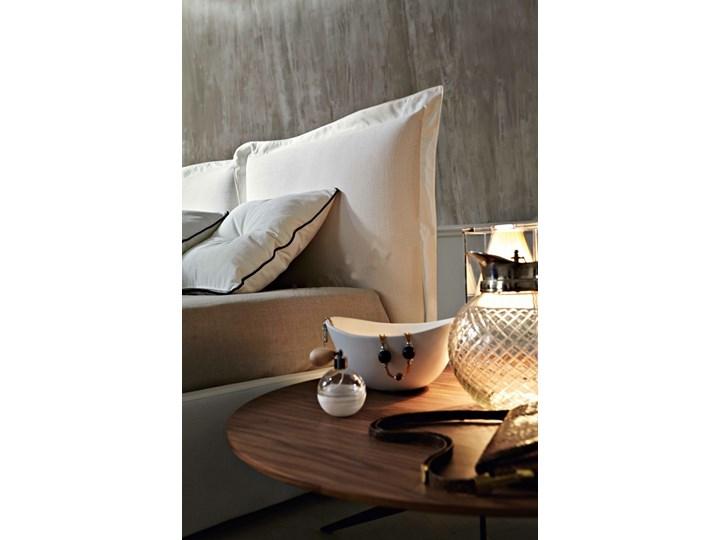 Łóżko tapicerowane SZYMEK  140x200 cm DWUSTRONNE WEZGŁOWIE Drewno Tkanina Kolor Biały