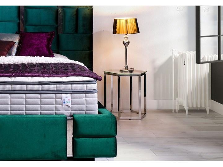 Łóżko  ZEUS 180x200 cm z wysokim wezgłowiem do sypialni Tkanina Łóżko tapicerowane Drewno Kolor Zielony