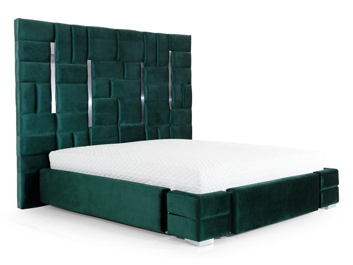 Łóżko  ZEUS 180x200 cm z wysokim wezgłowiem do sypialni Łóżko tapicerowane Tkanina Drewno Rozmiar materaca 140x200 cm