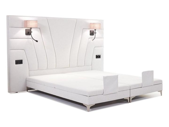 Łóżko elektryczne do sypialni Wiktoria 180x200 cm REGULACJA POZYCJI Łóżko tapicerowane Kategoria Łóżka do sypialni Kolor Biały