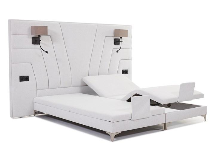 Łóżko elektryczne do sypialni Wiktoria 180x200 cm REGULACJA POZYCJI Łóżko tapicerowane Rozmiar materaca 160x200 cm Kolor Biały