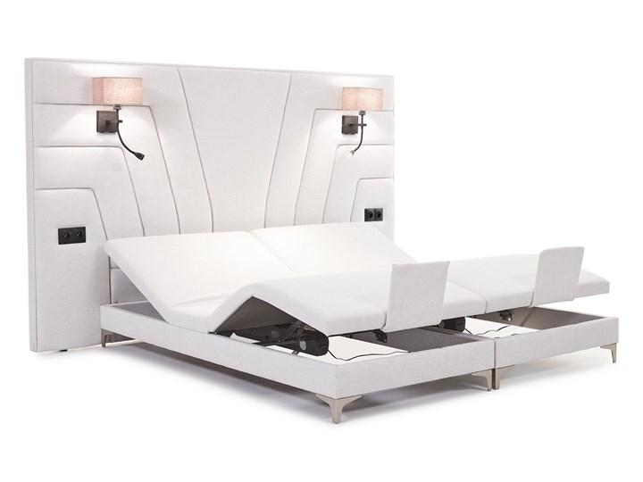 Łóżko elektryczne do sypialni Wiktoria 180x200 cm REGULACJA POZYCJI Łóżko tapicerowane Kolor Biały Rozmiar materaca 140x200 cm
