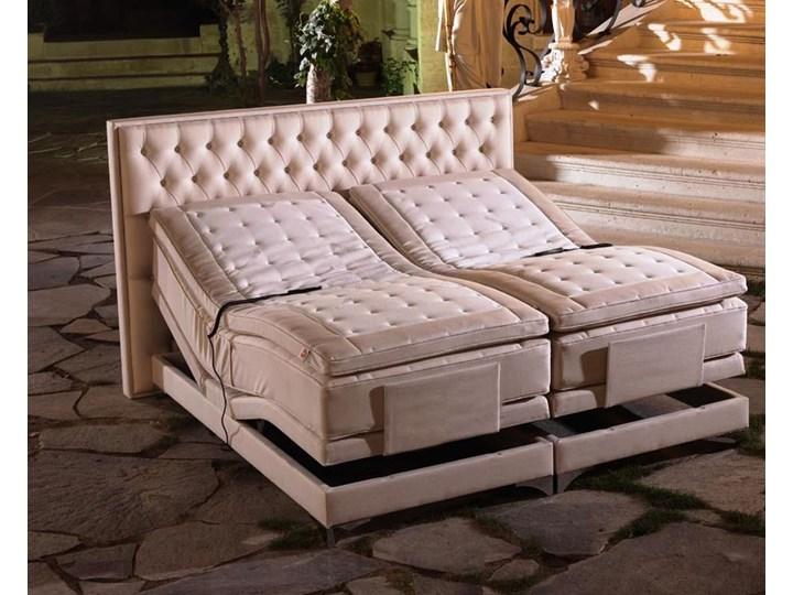 Łóżko elektryczne do sypialni MANCHESTER 180x200 cm REGULACJA POZYCJI Łóżko tapicerowane Rozmiar materaca 140x200 cm