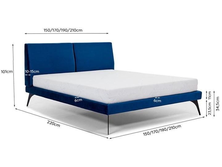 Łóżko tapicerowane do sypialni Konrado  180x200 cm ZE STELAŻEM Rozmiar materaca 160x200 cm