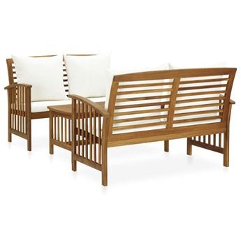 3-cz. zestaw wypoczynkowy do ogrodu, poduszki, drewno akacjowe
