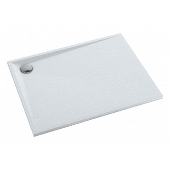 Brodzik prostokątny Stone, 100x80 cm, biały mat, STONE80/100BM