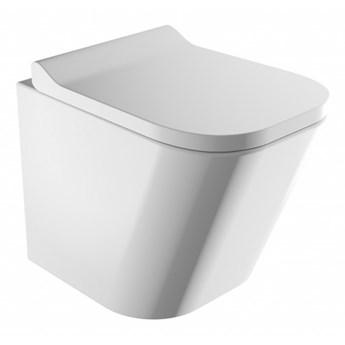 Miska WC Fontana, wisząca, bez kołnierza, z deską wolnoopadającą, biała, FONTANAMWBP