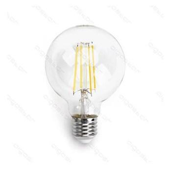 Żarówka FILAMENT LED E27 8W ciepła 2700K G80