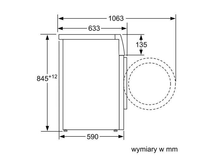 BOSCH i-Dos WAU28PK0PL Ładowanie Od frontu Głębokość 59 cm Szerokość 59,8 cm Wysokość 84,5 cm Kategoria Pralki