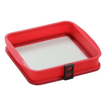 AMBITION Forma silikonowa ze szklanym dnem Delice Red 24 x 24 cm 79338