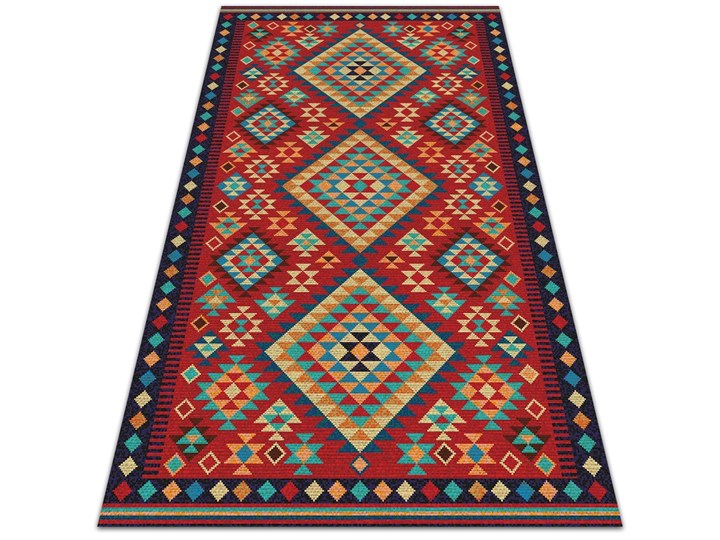 Piękny dywan zewnętrzny Kolorowe trójkąty retro Prostokątny Dywany 60x90 cm 80x120 cm Winyl Kategoria Dywany