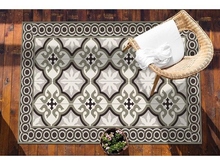 Nowoczesny dywan outdoor wzór Hiszpański wzór 80x120 cm Winyl 60x90 cm Kolor Szary Dywany Prostokątny Pomieszczenie Balkon i taras
