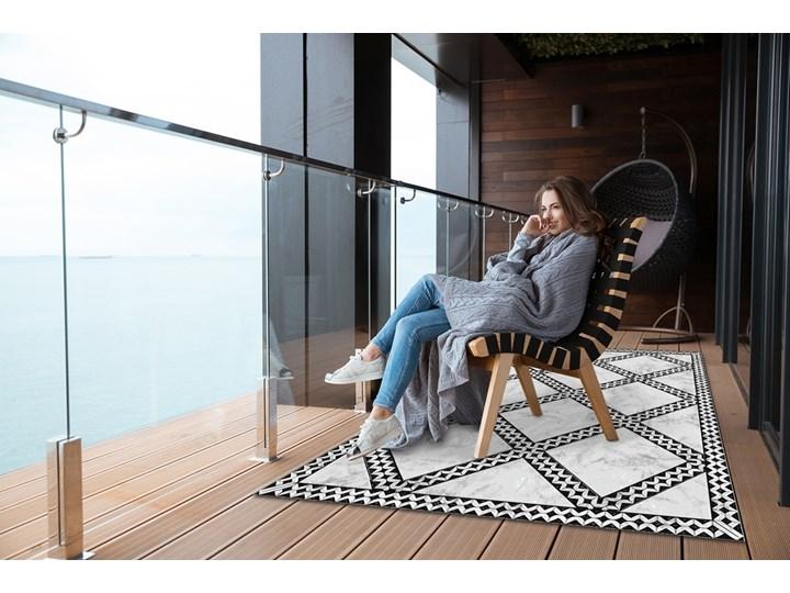 Nowoczesny dywan na balkon wzór Marmur wzorek 80x120 cm Prostokątny Dywany Kategoria Dywany 60x90 cm Winyl Pomieszczenie Balkon i taras